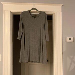 3 quarter, knee length, grey Kenar dress
